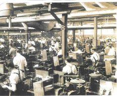 1930's vinyl record processing plant