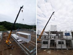 shigeru ban: onagawa temporary container housing + community center Storage Container Homes, Building A Container Home, Container Buildings, Container Architecture, Sustainable Architecture, Container Store, Ancient Architecture, Landscape Architecture, Shipping Container Office