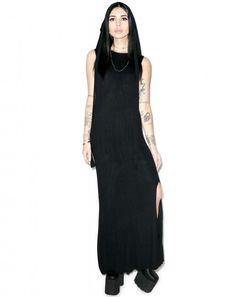 Black Scale Maiden Dress   Dolls Kill