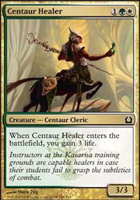 Centaur Healer (Modern Masters 2017 Edition) - Gatherer - Magic: The Gathering Riddles With Answers, The Valiant, Magic The Gathering Cards, Magic Cards, Cleric, Modern Masters, Comic Games, Centaur, Wizards Of The Coast