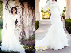 148 best Modest Wedding Dresses images on Pinterest | Wedding dress ...