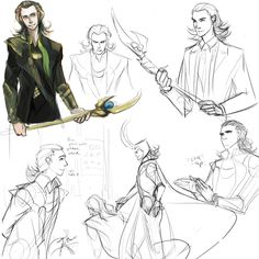 Loki sketches. Awesome.