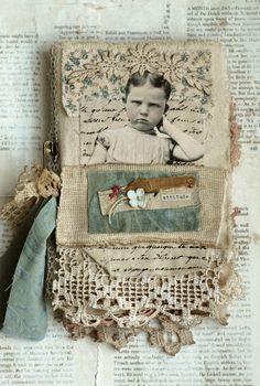 Love the combination of vintage photo with ephemera