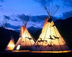 native american indian tipi | try going all Native in this Traditional Native America Indian teepee ...