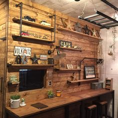 Rustic Home Offices, Home Office Decor, Diy Home Decor, Diy Interior, Interior Decorating, Bedroom Workspace, Home Remodeling Diy, Hobby Room, Room Setup