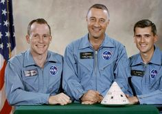 On January 27, 1967, tragedy struck the space program. Gus Grissom, Ed White and Roger Chaffee had been selected as the crew for Apollo 1.  During a practice launch countdown, a flash fire erupted inside the sealed cockpit. Within seconds the men were unconscious; minutes later they were dead. Because of the pressure of the fire, and the fact that the spacecraft's hatch opened inward, there was no hope of escape.