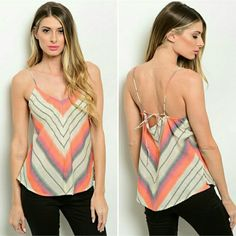 "SALE Summer Daze  Spaghetti Strap Shirt This piece screams ""let's go to the beach"" and is the epidimy of the laid back boho look!  Perfect for spring break and summer this spaghetti strap woven top features a v-neckline and multicolored print all over.  sizes sm-md -lg  measurement on small:L: 28"" B: 32"" W: 34"" 100% Cotton  ✔ I bundle for fab discounts! ✔I follow Posh rules!   I don't trade, paypal, etc  Questions? Ask!  ❤ HAPPY POSHING ❤  *pictures borrowed from vendor Tops Tank Tops"