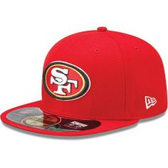 NewEra NFL San Francisco 49ers On Field Red Team 59fifty Cap - New Era by New Era. $29.99. Please refer to SKU: NCSF49-SOARELO when you contact us.. Guaranteed Authentic and Licensed by the league.. Item availability can change quickly as item becomes popular.. Brand Name: NewEra. Product Weight: 8 OZ. Original NewEra On Field NFL Side line Cap NewEra 59fifty Cap. Same cap that player wear on field. Authentic NFL Cap