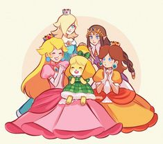 Isabelle with the Smash Girls Super Mario Princess, Super Mario Art, Nintendo Princess, Princess Daisy, Mario And Princess Peach, Twilight Princess, Pokemon, Metroid, Jeux Nintendo 3ds