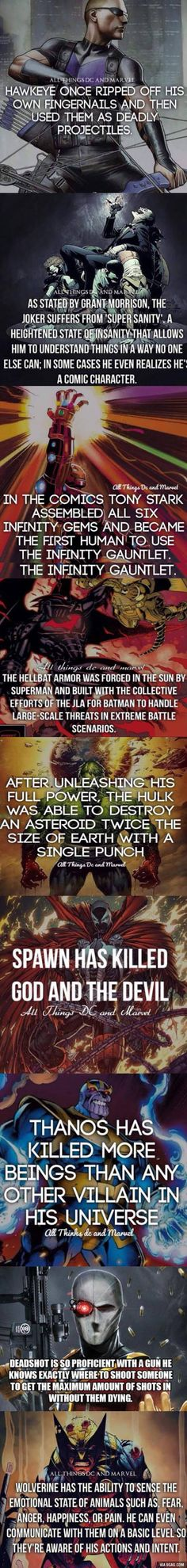 Superhero facts