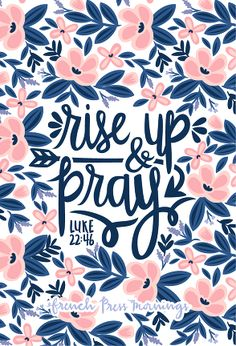 "French Press Mornings - Luke 22:46 ""Rise Up & Pray"" FREE Lock Screen & 4x6 print"