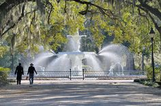 Forsyth Park in Savannah, Georgia dates back to 1850s. (Photo: Getty Images)