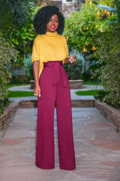 Slouchy Color Block Jumpsuit - Source by nathaliefechner - Fashion Wear, Work Fashion, Fashion Pants, Fashion Outfits, Daily Fashion, Classy Outfits, Stylish Outfits, Black Women Fashion, Womens Fashion