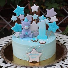 Baby Birthday Decorations, Number Birthday Cakes, Baby Boy Birthday Cake, Baby Boy Cakes, First Birthday Cakes, Girl Cakes, Minnie Cake, Cake Topper Tutorial, Cake Decorating Tutorials