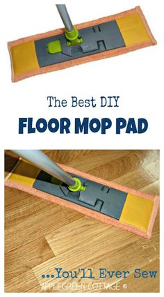 Easy, step by step tutorial for the best DIY floor mop pads for wet cleaning you'll ever make! It's easy. Quick. And zero-cost. And a great beginner sewing project!
