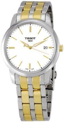 Relógio Tissot Men's T033.410.22.011.00 White Dial Classic Dream Watch #Relógio #Tissot