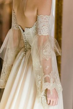 Claire Pettibone Marie strapless wedding dress with lace embroidered bodice, sil. , Claire Pettibone Marie strapless wedding dress with lace embroidered bodice, sil. Lace Wedding Dress, Wedding Dress Trends, Dream Wedding Dresses, Lace Dress, French Wedding Dress, Wedding Skirt, Embroidered Wedding Dresses, Wedding Dress Not White, Dramatic Wedding Dresses