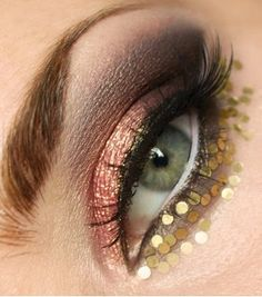 Rose gold eye decoration