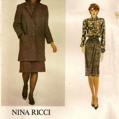 Vogue Paris Original Coat Skirt & Blouse Pattern  by SoSewSome, $15.00