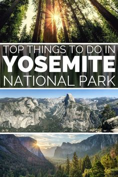 Things to do in Yosemite National Park: The ultimate guide to visiting Yosemite National Park and adventure itinerary. For the best Yosemite Hiking trails and Yosemite photography locations. Sunrise at Glacier Point Yosemite is one of the top things to do in Yosemite National Park. Drive the epic Tioga Road, one of the top Yosemite road trips across California United States