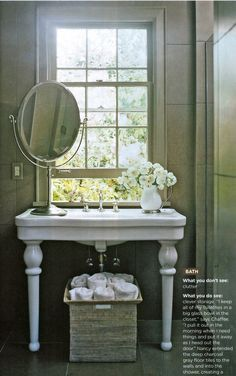 Bathroom Vanity Under Window bathroom vanity in front of window design ideas, pictures, remodel