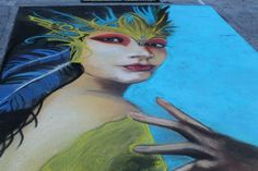 Annual Street Painting Festival in downtown Lake Worth Beach, Florida. Street Painting, Painting, Artist