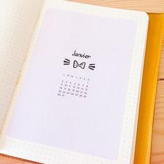 Pages de garde mensuelles pour Bullet Journal, à imprimer chez soi. Page de garde avec calendrier. Printable BUJO. Printable bullet journal.