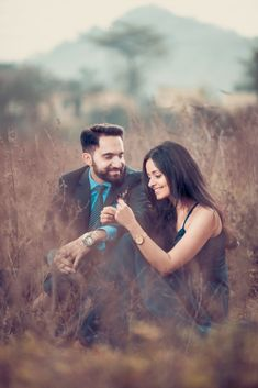 This Cross Culture Wedding Had The Most Gorgeous Couple Outfits & Bridal Jewellery To Swoon Over - Witty Vows Pre Wedding Shoot Ideas, Wedding Inspiration, Red Wedding Lehenga, Cute Couple Outfits, Pink Gowns, Lehenga Designs, Bridal Jewellery, Bridal Portraits, Vows