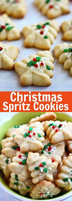 Spritz Cookies – BEST, buttery, melt-in-your-mouth crumbliest Christmas Spritz cookies ever! Super easy recipe that anyone can bake this holiday season | http://rasamalaysia.com
