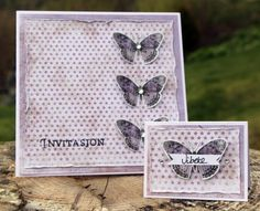 invitasjon og bordkort Decoration Table, Handmade Cards, Craft Cards, Card Making, Diy Cards, Homemade Cards, Handmade Crafts