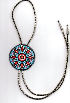 native american beadwork  Bolo tie by deancouchie on Etsy, $52.00