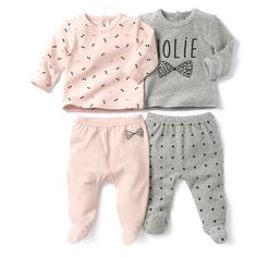 Image Lote de pijamas com 2 peças em veludo R baby Twin Baby Clothes, Winter Baby Clothes, Baby Set, Baby Baby, Baby Girls, Outfits Niños, Baby Boy Outfits, Baby Girl Fashion, Kids Fashion