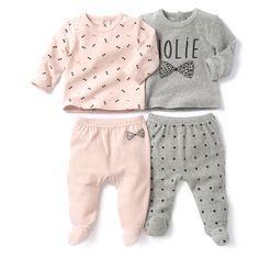 Lote de pijamas com 2 peças em veludo R Baby | La Redoute