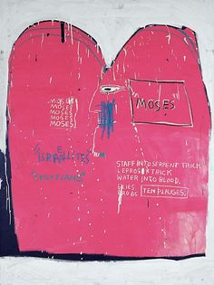 Broken art by Jean-Michel Basquiat. Jean-Michel Basquiat, the most famous and expensive black artist. Jean Basquiat, Jean Michel Basquiat Art, Robert Rauschenberg, Guernica, Keith Haring, Radiant Child, Guggenheim Museum Bilbao, Pop Art, Eye Candy