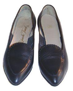 Mod Black Leather Shoes