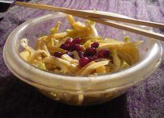 Salade japonisante chou rave et pomme