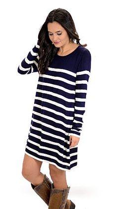 ShopBlueDoor.com: The ultimate striped sweater dress! $54