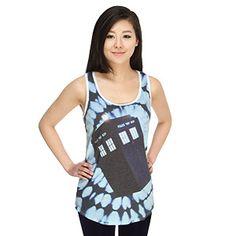 Tie Dye TARDIS Ladies' Tank Top - Exclusive