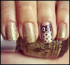 Owl Nail Art-Love for Fall❤
