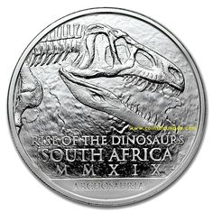 ARCHOSAURIA 1oz Silver Coin South Africa with COA and Blister SAM 2019 Silver Coins, South Africa, Ebay, Gold, Silver Quarters, Yellow