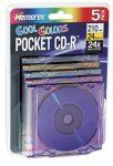 5-pack Pocket Mini CDR 24 Media Cool Colors 24x 210MB with slim by Memorex. $25.00. 8cm disc designed to fit into the small inner tray of your CD drive or with CD-R cameras21 minutes/185MB storage capacityJewel cases