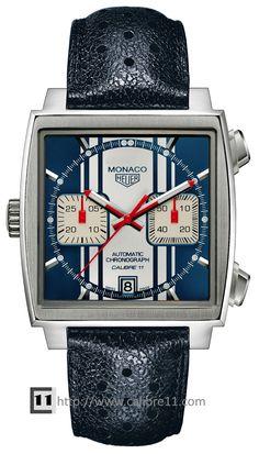 091e743ef41 Monaco Steve McQueen Calibre 11 Chronograph Watch by TAG Heuer