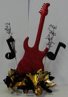 Guitar Music Centerpieces for Tables 30th Party, 60th Birthday Party, Grad Parties, Dinner Themes, Party Themes, Party Ideas, Music Themed Parties, Music Party, Music Centerpieces