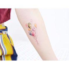 : Watercolor balloons . . #tattooistbanul #tattoo #tattooing #balloons #watercolor #colortattoo #tattoosupplybell #tattoomagazine #tattooartist #tattoostagram #tattooart #tattooinkspiration #타투이스트바늘 #타투 #풍선 #컬러타투 #수채화