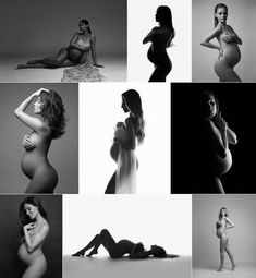 Artistic nude maternity photography, NYC, NY Fine-art Pregnancy photography by Lola Melani, artistic b&w nude maternity silhouettes, pregnancy photography, silhouette photography, maternity session ideas, posing, black and white #artphotography