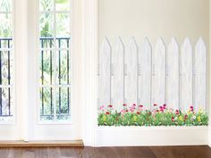 Picket Fence & Wild Flowers Mural