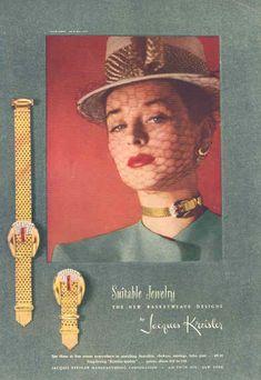 """KREISLER """"Suitable Jewelry""""  Harper's Bazaar 1946"""