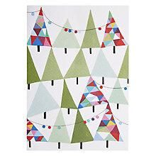 Buy Hannah Pontin Christmas Tree Garland Greeting Card Online at johnlewis.com