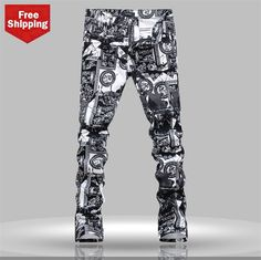 57.80$  Watch now - http://aliwby.shopchina.info/go.php?t=32464171495 - 2014 new fashion Men's Jeans,Tide printed Jeans men,Hot sale,high quality men Jeans, big size jeans 28-40  #bestbuy