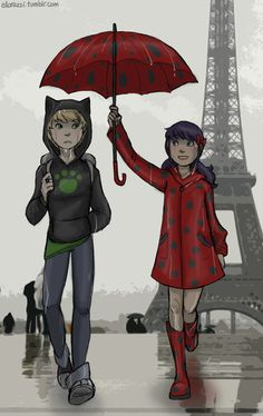 Miraculous Tales Of Ladybug And Cat Noir - Adrien and Marinette